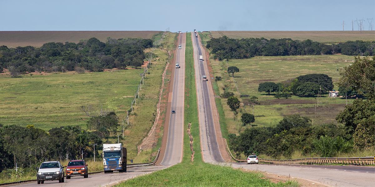 Aumento na circulação diária na BR-163. (Foto: Divulgação)