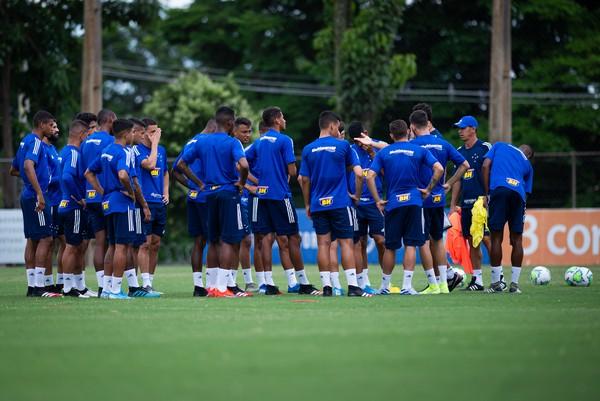 Elenco do Cruzeiro - 11/02/20 — Foto: Bruno Haddad/Cruzeiro