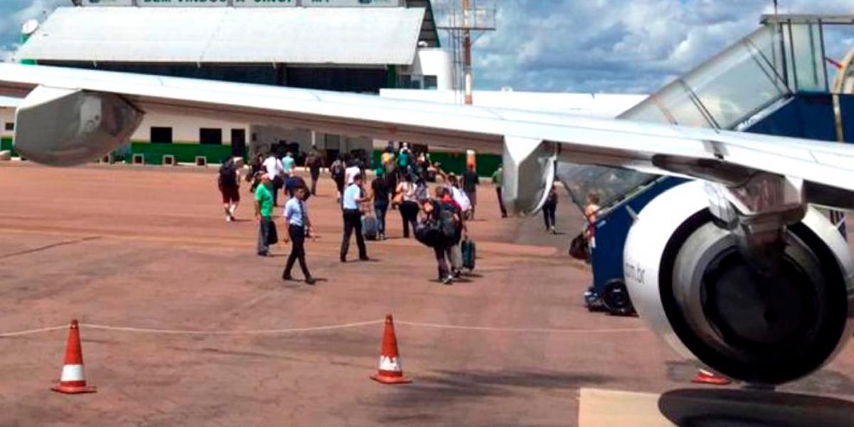 Reestruturação nos aeroportos de Mato Grosso. (Foto: Só Notícias)