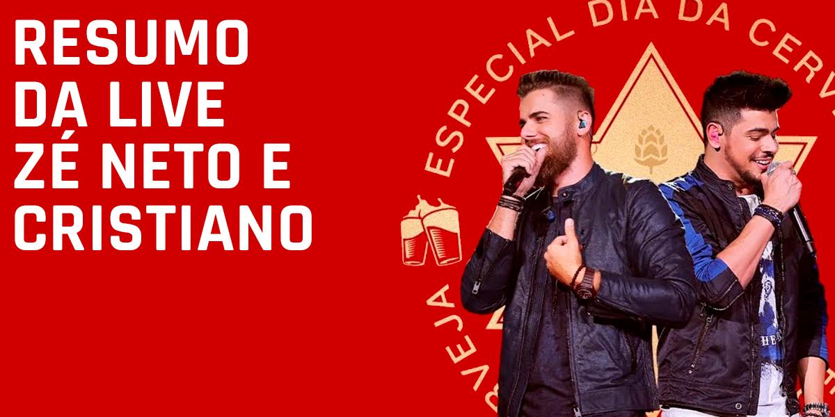 Foto: Divulgação da Live de Zé Neto e Cristiano do dia 07.08.2020