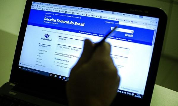 Reprodução do site da Receita Federal — Foto: Marcelo Camargo/Agência Brasil