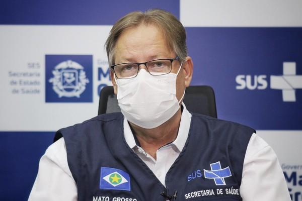 Gilberto Figueiredo, secretário de Saúde de Mato Grosso, está com Covid — Foto: Christiano Antonucci / Secom - MT