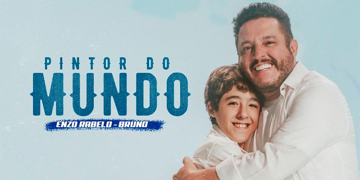 Imagem oficial do lançamento da música Pintor do Mundo com Bruno e Enzo Rabelo.(Foto: Divulgação)