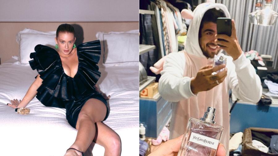Marina Ruy Barbosa e Caio Castro participaram de evento de lançamento online de uma nova fragrância da Yves Saint Laurent Imagem: Reprodução/Instagram