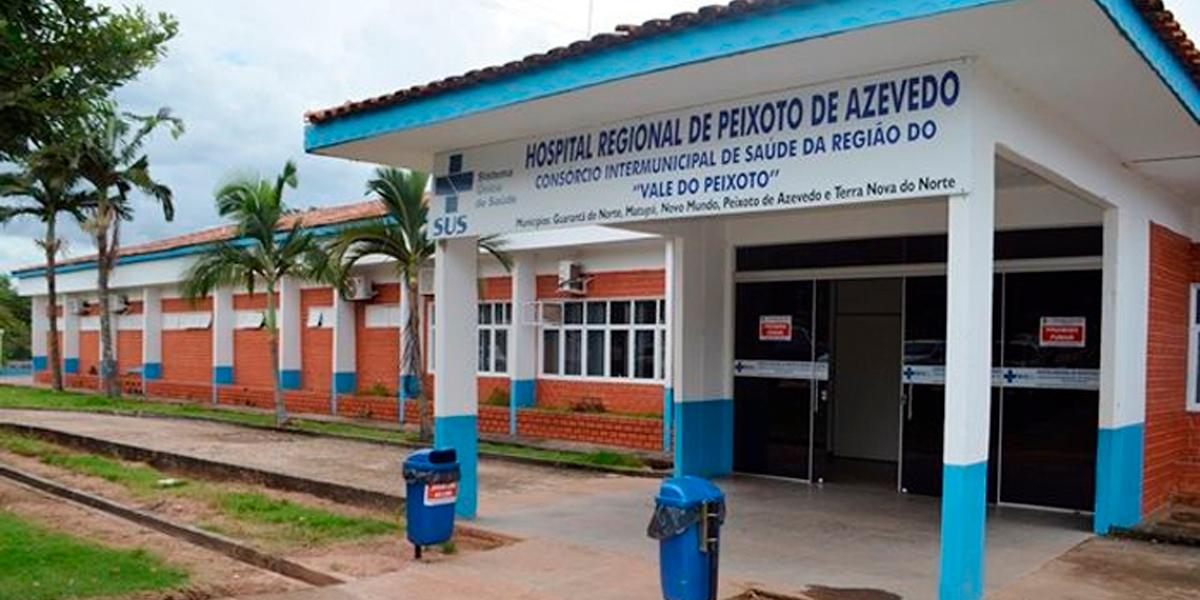Hospital Regional de Peixoto de Azevedo, pode mudar de local. (Foto: Divulgação)