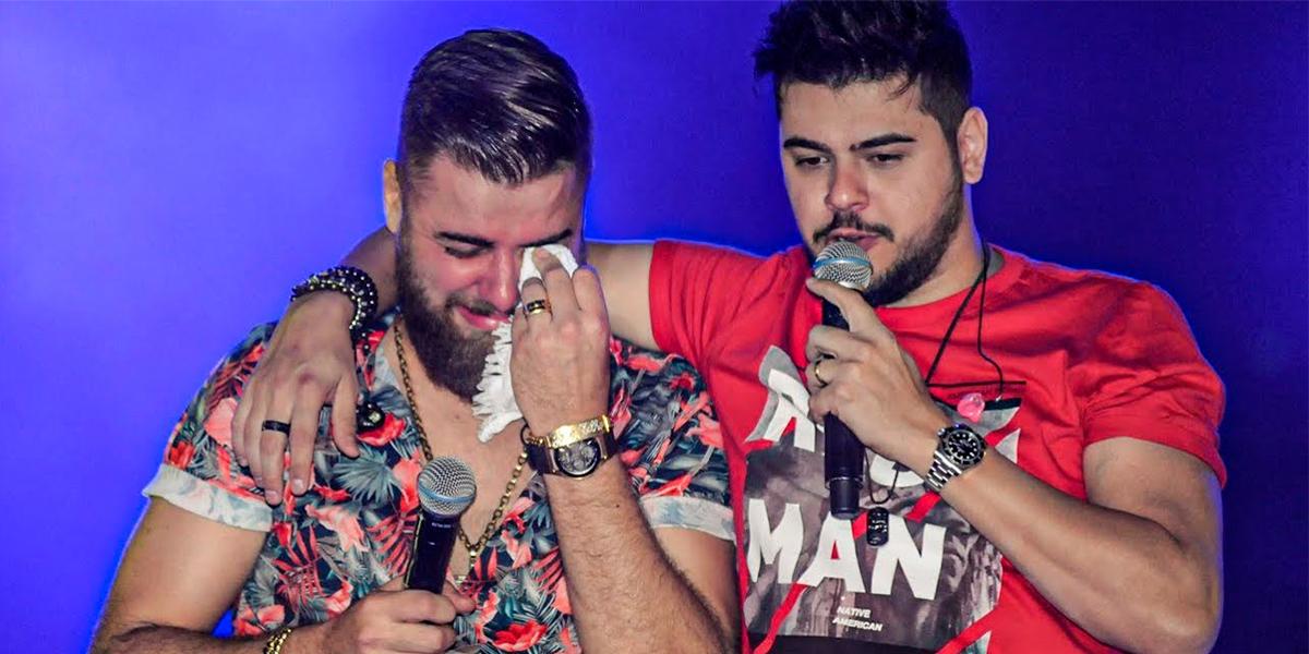 Zé Neto e Cristiano participam do programa Domingão Do Faustão. (foto: Reprodução)