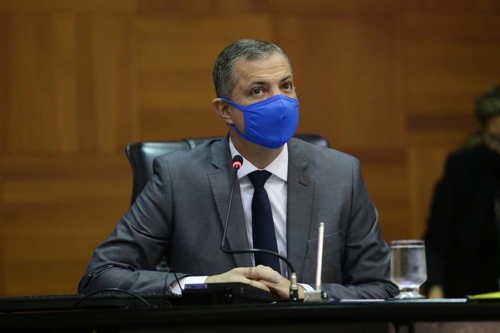 O deputado estadual Faissal Calil (PV), de 40 anos, testou positivo para coronavírus (Covid-19) e está se recuperando em Cuiabá — Foto: Fablicio Rodrigues / ALMT