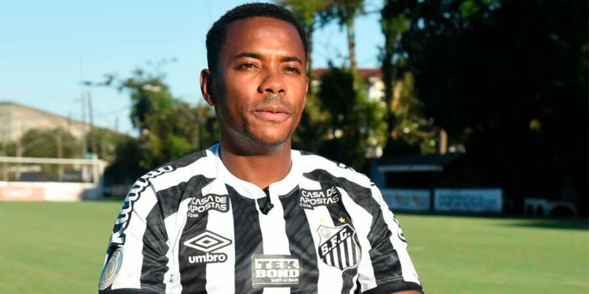Atualizações sobre Robinho. (Foto: Divulgação Santos)