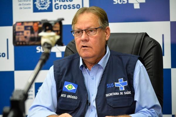 Secretário de Saúde de Mato Grosso, Gilberto Figueiredo — Foto: Tchélo Figueiredo - SECOM/MT