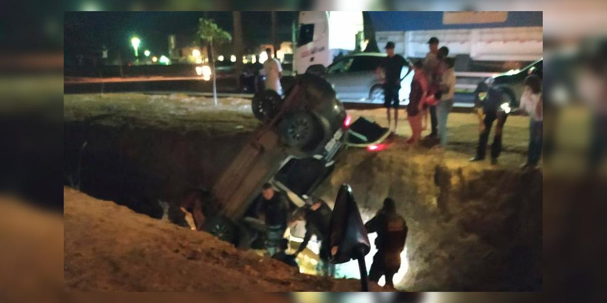 Acidentes em valetões de Sinop. (Foto: Só Notícias / Herbert de Souza)