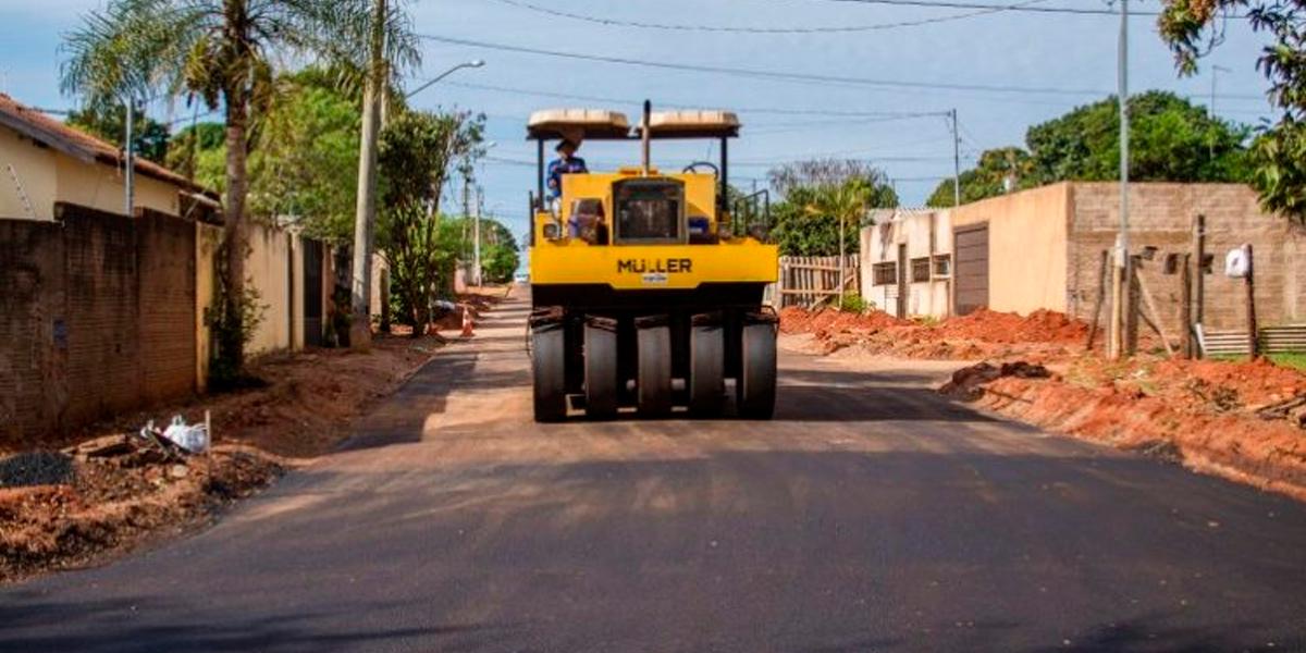 Obras em Sinop para pavimentação de dois bairros. (Foto: Divulgação / Ilustrativa)