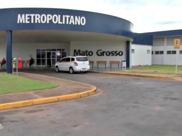 Paciente estava internada no Hospital Metropolitano de Várzea Grande — Foto: Reprodução/TVCA